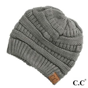 "Solid ribbed beanie ""The Original"" beanie"